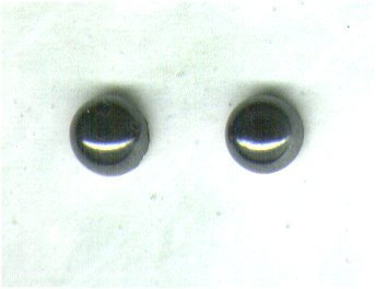Hematite Gemstone & Sterling Silver 6mm Stud Earrings - PreciousThings.ecrater.com
