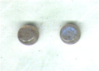Sorry, Temporarily Out of Stock - Labradorite Gemstone & Goldfilled 6mm Stud Earrings