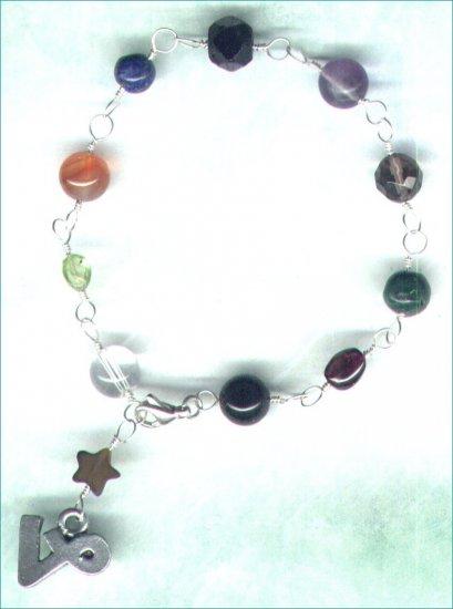 "Handcrafted Gemstone Bracelet with Zodiac Charm ""Capricorn"" - PreciousThings.ecrater.com"