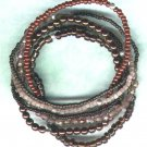 "Beaded Elasticated Bracelet Nest ""The Browns"" - PreciousThings.ecrater.com"