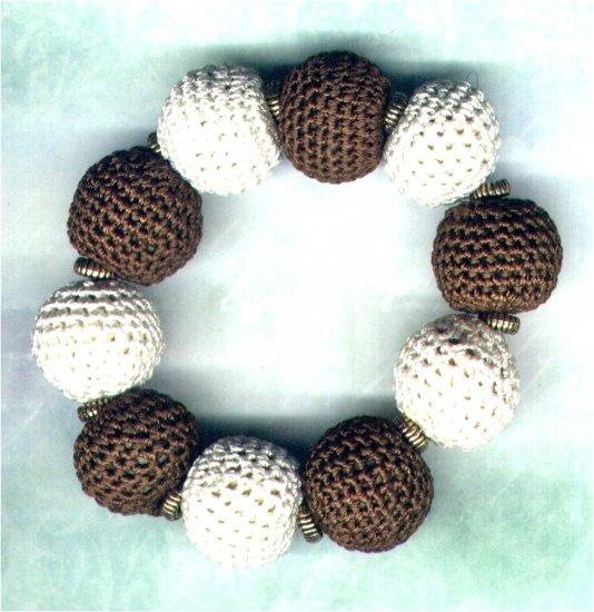 Handmade Chunky Crochet Bead Elasticated Bracelet