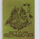 Transformers Dark of the Moon Gold Foil Starscream Card