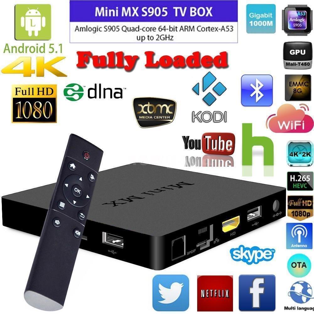 MX Mini Penta Core 4K Smart TV Box Kodi 16.0 Jarvis Android 5.1 Lollipop XBMC
