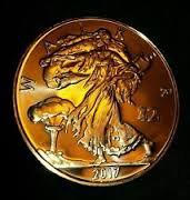 CONTAINED- Zombucks� Walker 1 oz Copper Round