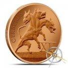 Cerberus 1 oz Copper Round | The 12 Labors of Hercules