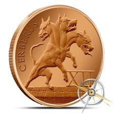 Cerberus 1 oz Copper Round   The 12 Labors of Hercules