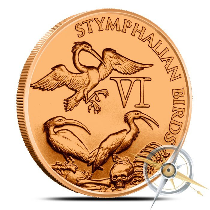 Stymphalian Birds 1 oz Copper The 12 Labors of Hercules