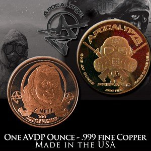 � Ben Franklin Z-Note � 1 Ounce Copper Round Bullion