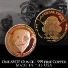 1 Ounce Rounds Guy Fawkes by Apocalypze Mint.