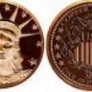 1 Oz Copper Lady Liberty Design Round