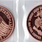 1 Oz Pledge Allegiance Copper Round