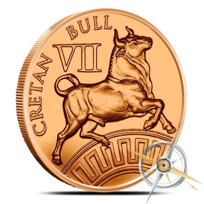 Cretan Bull 1 oz Copper | The 12 Labors of Hercules