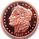 CONTAINED- Zombucks™ Morgue Anne 1 oz Copper Round
