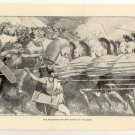 The Macedonian Phalanx, Battle of the Carts, 108 year old original antique print
