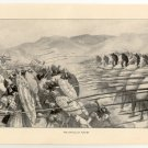 The Battle of Plataea, 108 year old original antique print