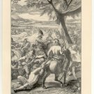 The Greeks After Cunaxa, 108 year old original antique print