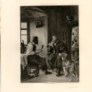 Albert Durer Visits Hans Sachs, 120 year old original antique photogravure
