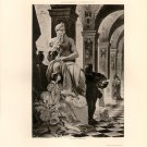 Michael Angelo and Vittoria Colonna, Michelangelo, 120 year old original antique photogravure