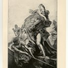 Paris Abducting Helen, 108 year old original antique print