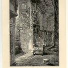 Birth Chamber of the Khedives, 108 year old original antique print