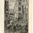 Massacre of the Mamelukes, 108 year old original antique print