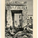 The Temple of Isis at Philae, 108 year old original antique print