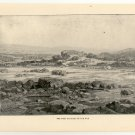 The First Cataract of the Nile River, 108 year old original antique print