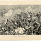 Repulse of the Great Tartar Invasion of Japan, original antique art print