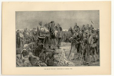 The End of the War, Surrender of Admiral Ting, original antique art print