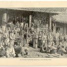 Captives of Song-hwan Displayed to the Coreans in Seoul, Korea, original antique art print