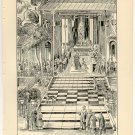 Tai-tsing Departing for his Campaign against the Tartars, original antique art print