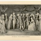 "The ""Peace Ball"" after the Surrender of Cornwallis, original antique art print"
