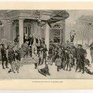 The Boston Boys Protest to General Gage, original antique art print
