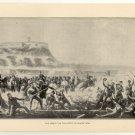 The Assault on the Castle of Chapultepec, original antique art print