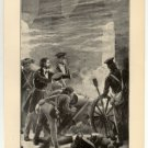Lieutenant Grant Bombarding the City of Mexico, original antique art print