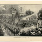 The Grand Peace Review at Washington in 1865, original antique art print