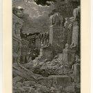 Babylon is Fallen, Gustave Dore, 108 year old original antique print