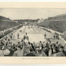 American Victory at the Revival of the Olympic Games, 108 year old original antique print