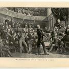 Last Compromise, Clay Urging Omnibus Bill upon the Senate, 108 year old original antique print