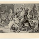 The Seizure of Mortimer, 108 year old original antique print