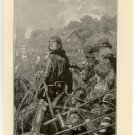 Richard III Forcing his Nephew from Protection of Lord Rivers, 108 year old original antique print