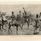"The Supreme Moment at Waterloo, ""Let the Whole Line Advance!"", original antique print"