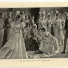 The Court Reception during Queen Victoria's Diamond Jubilee, original antique print