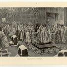 The Coronation of Edward VII, original antique print