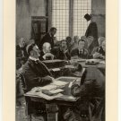 Cecil Rhodes Testifying at the Jameson Inquiry, original antique print