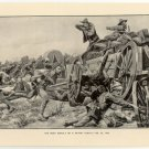 The Boer Assault on a British Convoy, February 25, 1902, original antique print