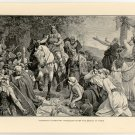 Hermann's Triumphant Procession after the Defeat of Varus, original antique print
