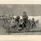 The First Invasion of the Franks into Gaul, original antique print