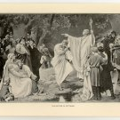 The Baptism of Wittekind, original antique print
