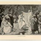 The Baptism of Wittekind, original antique print
